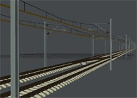3d cantenary uk railways model