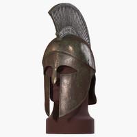 spartan helmet v-ray 3d max