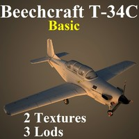 beechcraft basic 3d max