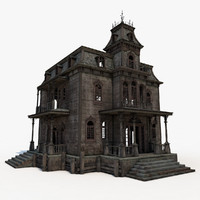 3d old abandoned house interior