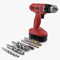 cordless drill bits 3d model