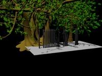 iron fences 3d model