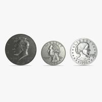 coins set silver 3ds