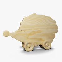 3d model wood wooden hedgehog