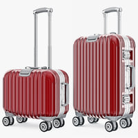 Suitcase Travel Kingtrip Normal And Small Red