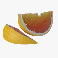 3d grapefruit slice 2