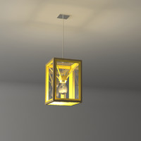 High End Ceiling Light Fixture Glass and Metal