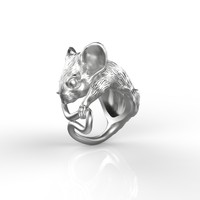 3d model ring mousy