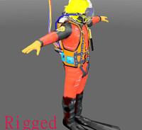 diver 3d model