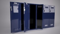 sports lockers 3d model