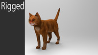 3D_Cat_Low_poly_animated