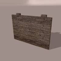 3d model wood wall