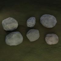 3d model rock 2