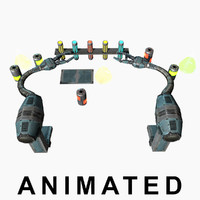 3d low-poly robotic animation