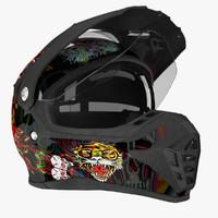 3d motocross helmet ed hardy
