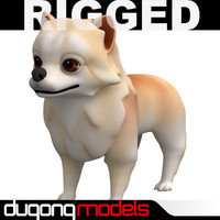 dugm06 rigged cartoon dog max