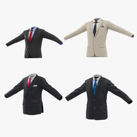 3d mens suit jackets model