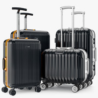 3ds max set bag suitcase travel