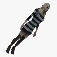 dxf young blonde striped dress