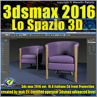 3ds max 2016 Lo Spazio 3D volume 16.0 Italiano cd front