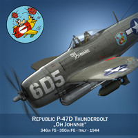 cinema4d republic p-47 thunderbolt -