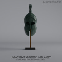 ancient greek helmet 3d c4d