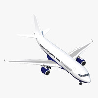 rigged airliner 3d c4d