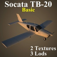 3d socata basic model