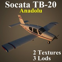 3d socata anadolu low-poly