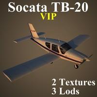 3d model socata vip