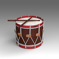 drum musical instruments 3d x