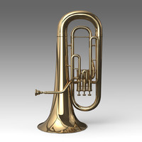 3d model of trumpet musical instruments