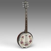 guitar banjo 3d x