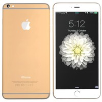 3d modelled iphone 6 gold