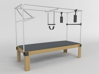 pilates table 3d model