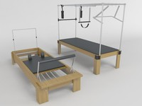 3d pilates table cadillac model