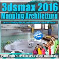 3ds max 2016 Mapping Architettura vol 33 Italiano 3 Mesi Subscription