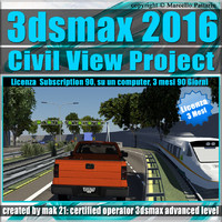 3ds max 2016 Master in Civil View 3 Mesi Subscription