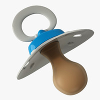 3d model pacifier object