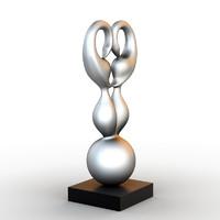 3d model of sculpture swan