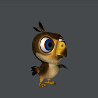 cartoon falcon 3d model