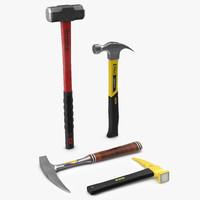 hammers set sledge 3d max