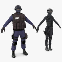 3d model swat policemans