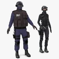 swat rigged policemans max