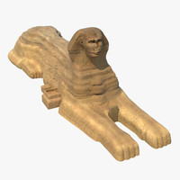 great sphinx giza 3d c4d