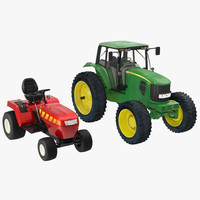 3ds max tractors set small