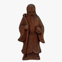 monk figurine scanned 3d c4d