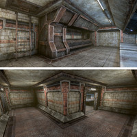 3d sci-fi interior foundry small model