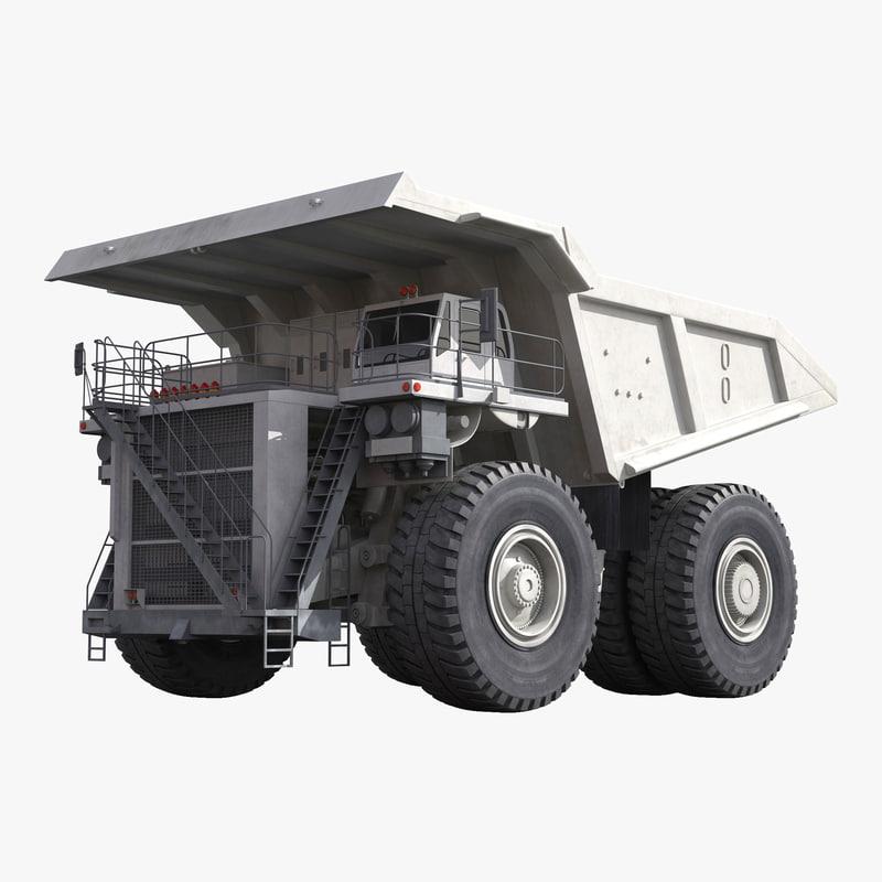 Heavy Duty Dump Truck Generic White 3d model 00.jpg