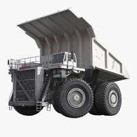 3d heavy duty dump truck model
